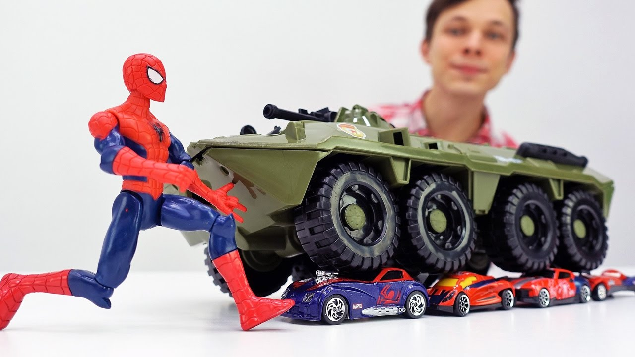 Мастерская Фёдора - Человек Паук и Джокер: возвращаем машинки!