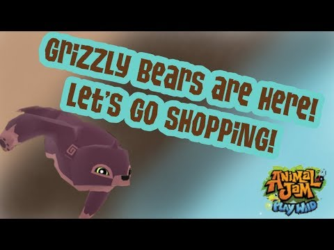 Grizzly Bears come to AJPW! | Let's Go shopping! Animal Jam Play Wild