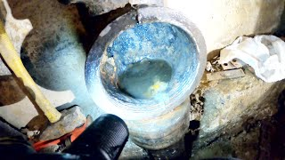 DRAIN CLEANING VIDEO - Someone forgot to chew their corn 🌽 - Drain Pros Ep. 56