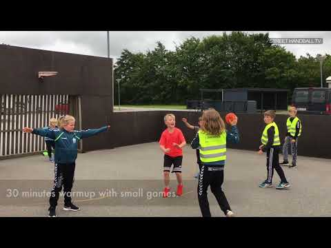 Ideas for training Street handball at your street pitch / multi pitch, multibane, Denmark