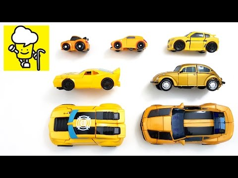 Thumbnail: Bumblebee yellow car transformer トランスフォーマー 變形金剛 | stop motion for kids