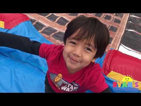 McDonald's Drive Thru Prank Bad Kid On Inflatable Car Toys on Water Slides Kids Pool