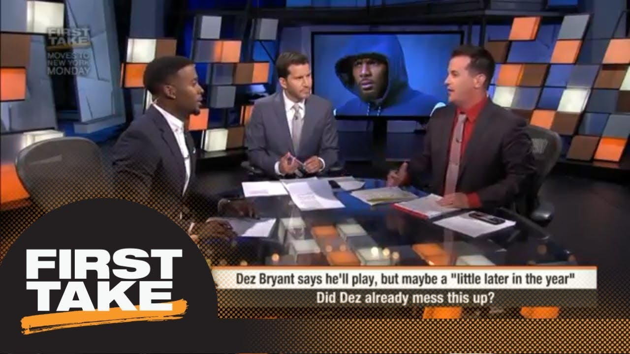 Will Cain Dez Bryant Can T Wait Too Much Longer To Sign With A Team First Take Espn