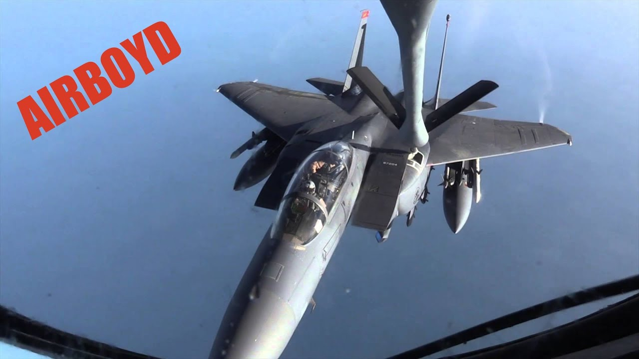 U.S. Air Force  • KC-135 Stratotanker • Refuels F-15E Strike Eagles • Qatar
