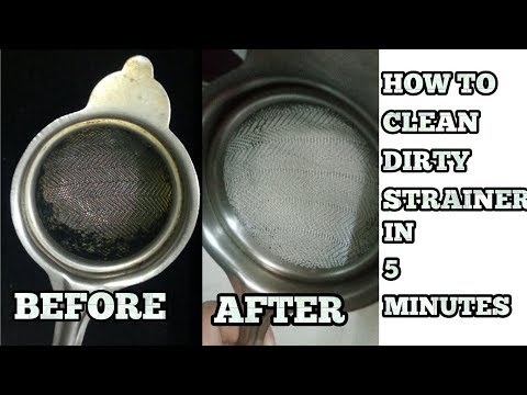 How to Clean Tea strainer-Chai Channi Kese Saaf Kre-Clean Metal Sieve-Blocked Steel Strainer