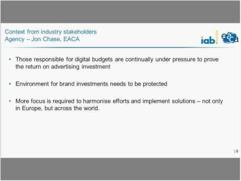 IAB Europe and EACA viewable impressions initiative - 4 February 2016