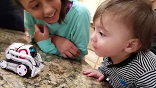 Repeat youtube video ROBOT SAVES BABY FROM FIRE! COZMO Playtime! Artificial Intelligence Super Computer FUNnel Vision Fun