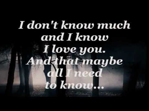 DONT KNOW MUCH Lyrics  LINDA RONSTADT  AARON NEVILLE