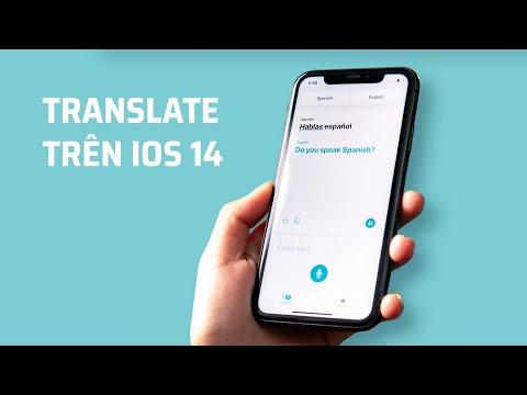 Dùng thử ứng dụng Translate trên iOS 14