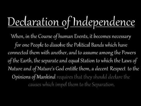 Memorize the Declaration of Independence: Introduction