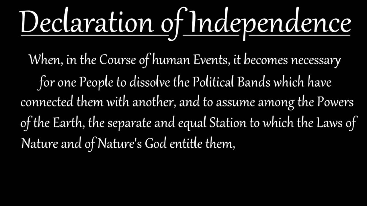 an analysis of the laws of nature the first paragraph of the declaration of independence Declaration of independence: analysis with picture and document 1 declaration of independence: analysis with picture and document  overview: using primary sources (the declaration of independence and an artist rendition of the signing) to study the document setting us free from great britain.