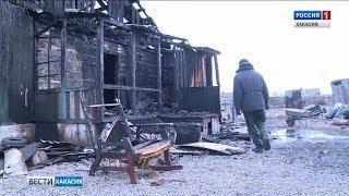 В селе Красноозерное двое подростков вынесли из горящего дома троих детей. 08.11.2018
