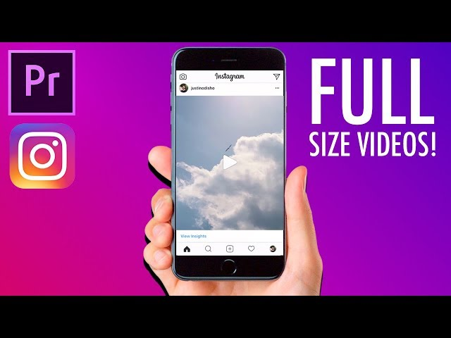 How to create FULL SIZE VIDEO posts for INSTAGRAM in Adobe Premiere Pro! (Portrait, Square, Stories)