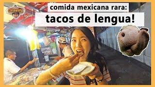 COREANITA prueba tacos de LENGUA por 1era vez!│coreanita