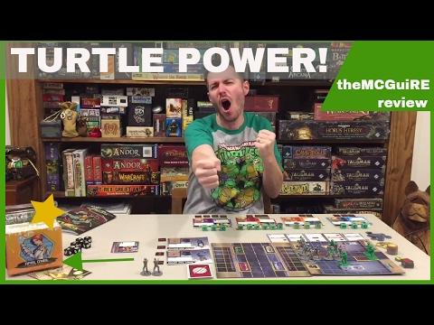 TEENAGE MUTANT NINJA TURTLES Shadows Of The Past Board Game Review