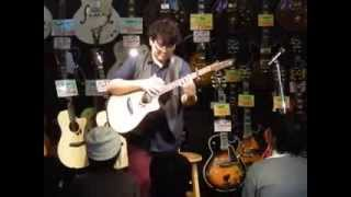 """ソロアコースティックギタリスト""""okapi""""インストアライブ @KEY新宿"""