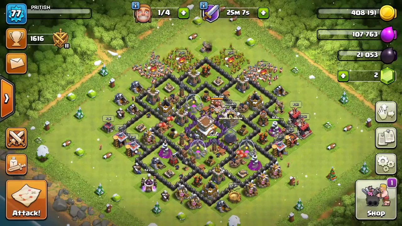 Best Th8 Defence Base 2017 Clash Of Clans Youtube