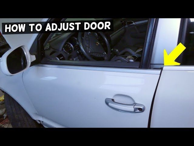 How To Adjust Car Door That Does Not Close Demonstrated On Porsche Youtube