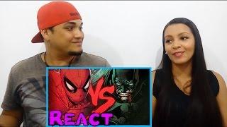 React #174 Homem-aranha Vs. Batman  Duelo De Tit�s Part. Tauz