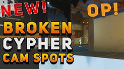 VALORANT - NEW INSANELY BROKEN CYPHER CAM SPOTS (Glitch Cams & More) Patch .50