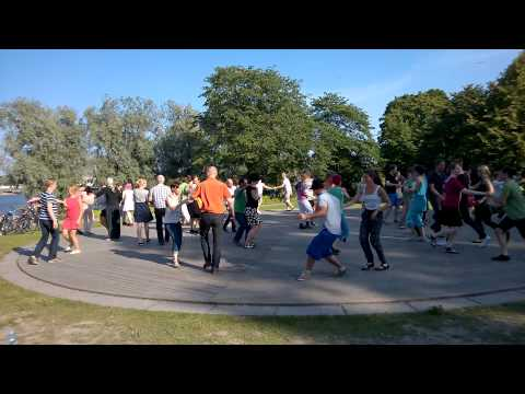 Outdoors Afternoon Lindy Hop Dancing at the Backyards of Helsinki Opera, Finland 2014
