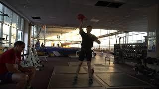 Online World Cup of kettlebell sport Sergey Stepanov Snatch 32 kg kettlebell 5 min