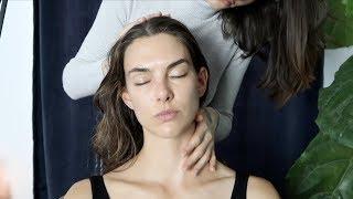 ASMR relaxing hair brushing and massage | whisper