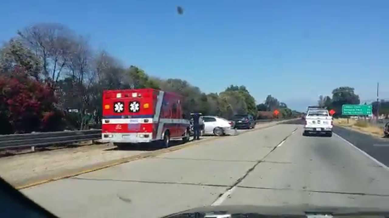 Car Crash FWY 198 Visalia CA