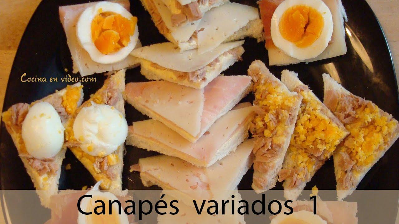 Canap s variados aperitivos frios f ciles y r pidos for Canapes faciles y rapidos frios