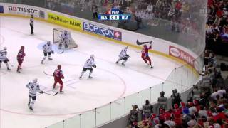 Хоккей ЧМ 2009 1/2 [ Russia - USA ] [ 1прд. ] 720p