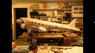 The Construction Of A Giant Dc-3 (c-47) Model From Scale Plans