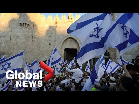 Israeli nationalists march in East Jerusalem, raising tensions with Palestinians