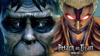 eren vs the ape beast armored titan secret boss battle   attack on titan wings of freedom
