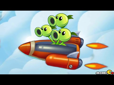 Plants Vs Zombies 2: Sky Castle World Air Force Battle Mini Game! (PVZ 2 China)