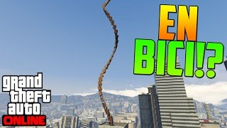 ¿¡SUBIR ESTO EN BICI!? - Gameplay GTA 5 Online Funny Moments (Carrera GTA V PS4)