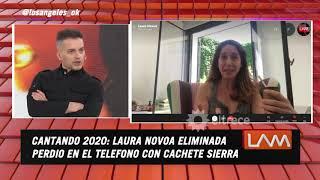 Laura Novoa dio la cara después de su eliminación en Cantando 2020