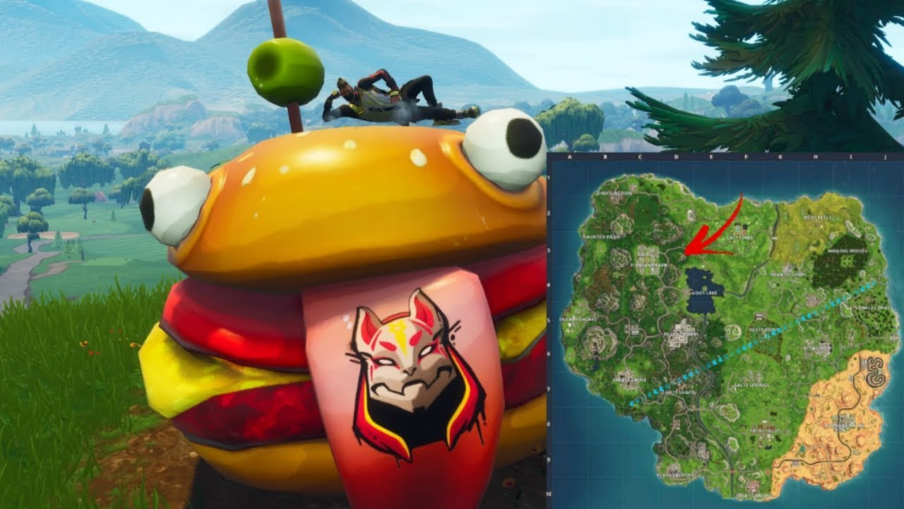 Fortnite Where To Find The Durr Burger Head
