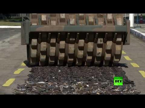 شاهد.. تدمير كميات  هائلة من الأسلحة في البرازيل  - نشر قبل 5 ساعة