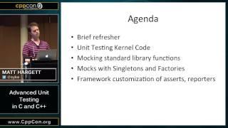 "CppCon 2015: Matt Hargett ""Advanced Unit Testing in C & C++"""