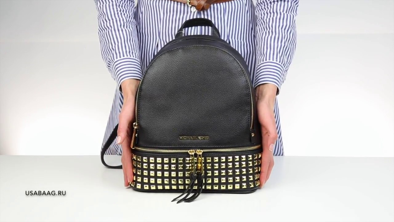 aa25dc4bfb946 Обзор рюкзака Michael Kors Rhea Leather Backpack - YouTube
