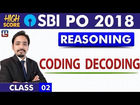 Coding Decoding   Reasoning   Class 2   High Score   SBI PO 2018   11:00 am