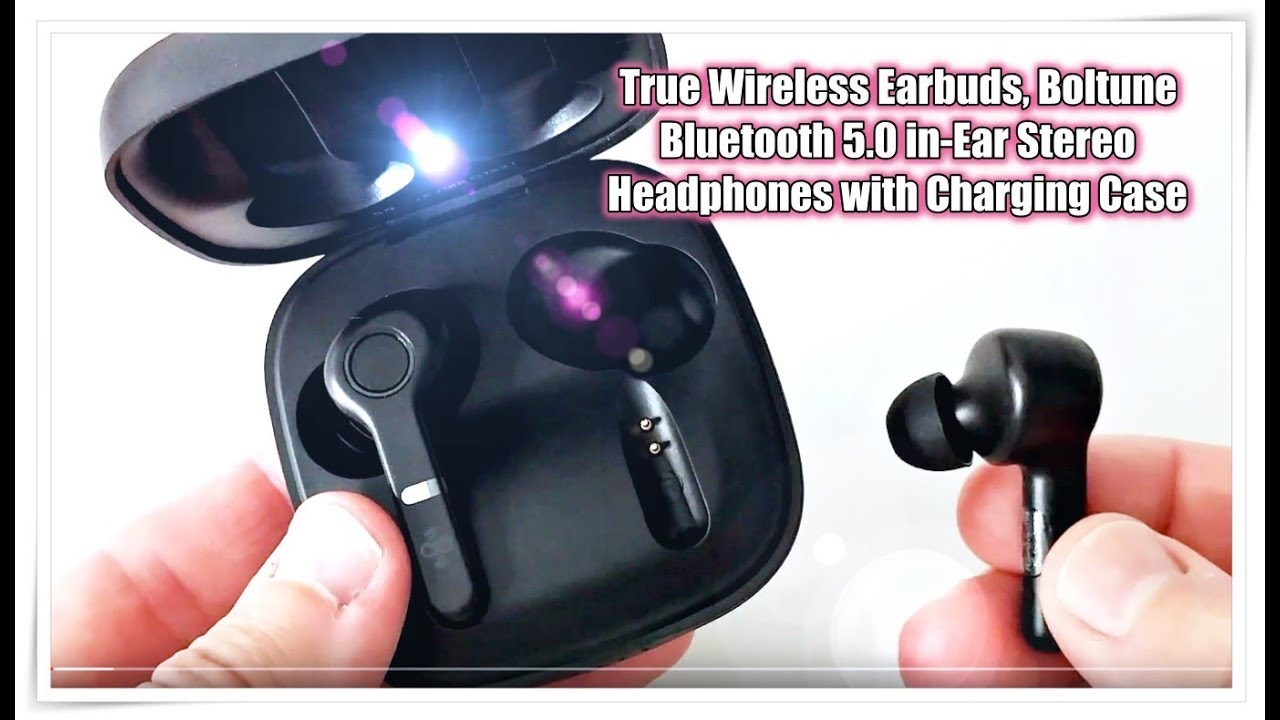 Boltune True Wireless Earbuds Bluetooth 5 0 In Ear Stereo Headphones With Charging Case Full Review Youtube