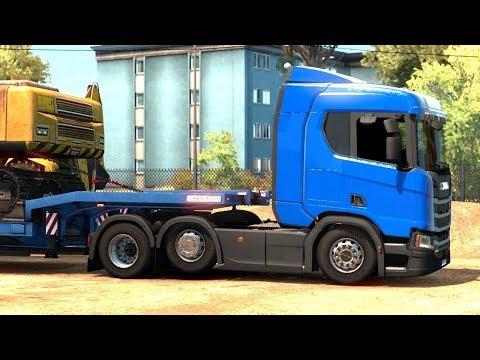 Euro Truck Simulator 2 Italia DLC - Catanzaro Excavator Pick Up |