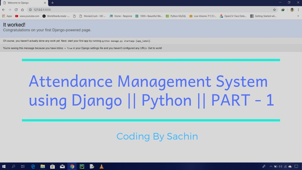 Part-1 || Attendance Management System using Django || Python