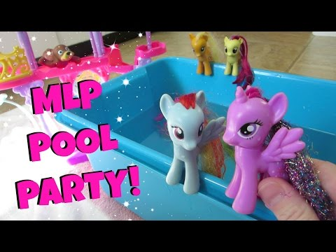 My Little Pony Pool Party MLP Water Slide Fun With