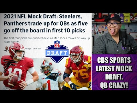 Reaction to CBS Sports Latest Mock Draft: FOUR QBs in a Row & Vikings Go O-Line