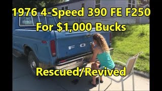 Gambar cover Rescuing a 1976 390 FE 4-Speed F-250: A Luke & Emily Revival ($1,000 Cheap Truck)