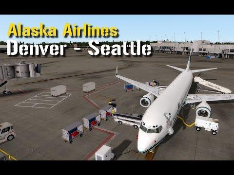 Prepar3D v3.3: PMDG 737 NGX | Denver - Seattle | Alaska Airlines