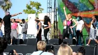 M.C. HAMMER rehearsing with his Dancing Crew & Son for Summer Fest 2012