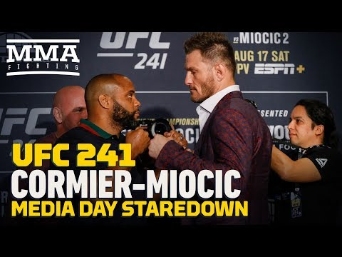 UFC 241: Daniel Cormier vs. Stipe Miocic 2 Media Day Staredown - MMA Fighting